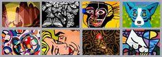Aaron Douglas, (African-American Harlem Renaissance - Art Deco), MC Escher (Dutch Artist Optical Illusions), Jean Michel Basquiat, (Haitian-African-American Graffiti - Neo-Expressionism), George Rodriguez - Symbolize (Cajun-American Artist Modern-Contemporary), Bruce Gray (Abstract Modern Geometric Painting), Roy Lichtenstein - Symbolize (American Pop Artist), Yayoi Kusama (Japanese Female Abstract Expressionism), Britto (Cuban-American Modern POP)