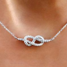 Infinity Knot Diamond Necklace, just like my 25 th anniversary gift from my sweetie