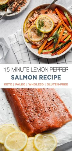 The Instant Pot creates the silkiest and most amazing salmon texture! You'll love this amazingly easy salmon method for meal prep, or just when you need a lightening fast dinner that is loaded with veggies and nutrients. Keto, whole30, paleo. 30 Minute Dinners, Fast Dinners, Vegan Dinners, Easy Meals, Whole30 Recipes, Easy Healthy Recipes, Healthy Foods, Real Food Recipes, Lemon Pepper Salmon