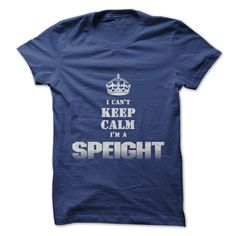"""I Cant Keep Calm Im a SPEIGHT"" shirt - Color Royal Blue"
