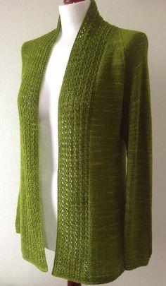Juneberry Cardigan Knitting pattern by emteedee - Tricot gilet - Ladies Cardigan Knitting Patterns, Knit Cardigan Pattern, Crochet Cardigan, Knit Patterns, Knit Crochet, Cardigan Design, Crochet Granny, Stitch Patterns, Sewing Clothes Women