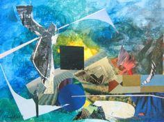 Ein kurzes Stück Zeit III - (c) Elisabeth Rütsche Collage Kunst, Picasso, Collagen, Outdoor Decor, Painting, Painting Art, Paintings, Draw