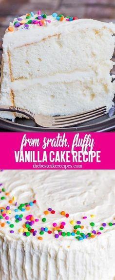 The Best vanilla cake recipe #cake #vanilla #whitecake