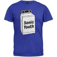 Sonic Youth - Mens Washing Machine T-shirt - Small Blue