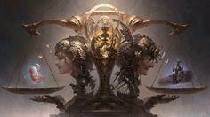 """Guangjian Huang  """"Libra"""", Zodiac series. Guangjian Huang, concept artist…"""