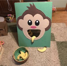 Monkey toss with banana bean bags for our church carnival