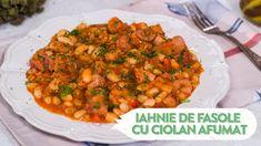 Reteta - Iahnie de fasole cu ciolan Romanian Food, Chana Masala, Food Videos, Foodies, Menu, Cooking, Ethnic Recipes, Soups, Youtube