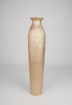 Tall Floor Vase 36 inches, Wood, Gold #Leewadee #Contemporary
