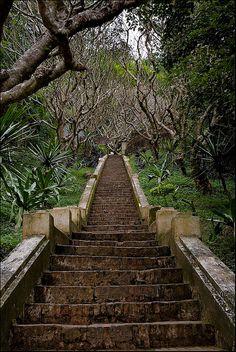 Stairs up to Mount Phousi in Luang Prabang, Laos (by American Jon).