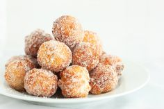 This post is going to be short and sweet today just like this simple donut recipe =). I'm in love and hate with this recipe I made. Love because they are amazing, and hate because I could eat all of them. To me these taste just as good (or better) as any cake donut you could buy at your local bakery but you can