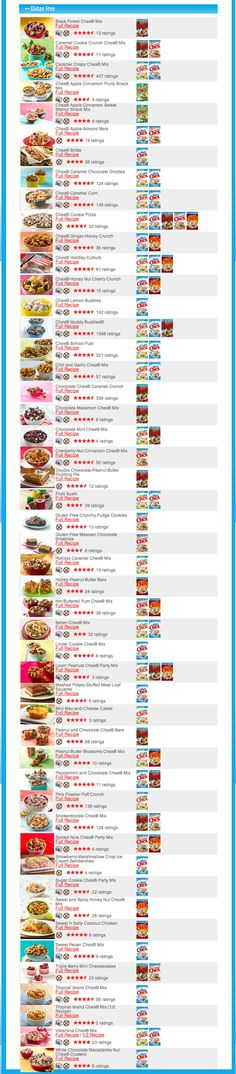 Chex Gluten Free Recipes - All, not just Chex Mixes.