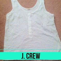 J. Crew medium white top J. Crew medium white top.  Very cute!! J. Crew Tops