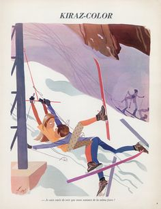 edmond-kiraz-1972-skiing-les-parisiennes-