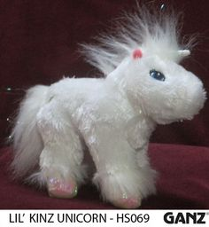 ~ Webkinz Unicorn ~ HS069 ~ Ganz Plush ~ No Code ~ Stuffed Animal ~ Retired =)  $5.99.