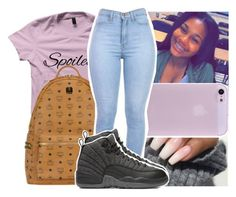 """""""— u the golden one ✨"""" by ayooshaanti ❤ liked on Polyvore featuring MCM and NIKE"""