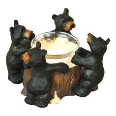 Black Bear Votive Holder