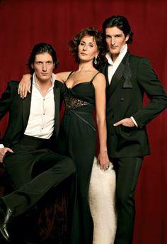 Nati Abascal con sus hijos, Rafael y Luis.
