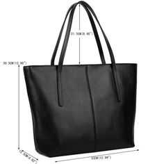 YALUXE Womens Large Capacity Leather Work Tote Zipper Closure Shoulder Bag Black -- You can get more details by clicking the picture. (This is an affiliate link). Diy Bags Purses, Purses And Handbags, Leather Handbags, Brown Handbags, Leather Shoes, Leather Pouch, Leather Shoulder Bag, Leather Bag Pattern, Work Tote