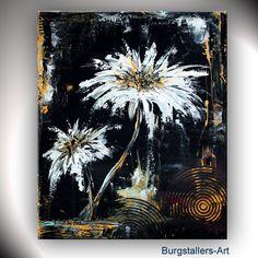 BURGSTALLERs Abstrakt Acryl ORIGINAL Blumen Bild Modern Malerei DANCE FLOWERS