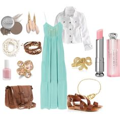 Love the outfit, have a similar colored maxi dress, summer inspiration!