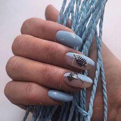 20 Trending Round Nail Designs To Copy Nails Polish, Aycrlic Nails, Diy Nails, Cute Nails, Coffin Nails, Round Nail Designs, Nail Art Designs, Nails Design, Round Nails