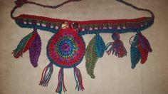 Crochet Tribal Hippie Belly Dancing Belt by Acreativewonderland