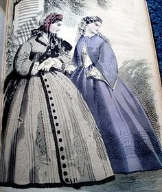 1862 - Petersons: A new style of casual wear consits of a Spanish jacket, long or cropped, worn over a blouse, aka Garibaldi blouse.