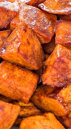 Honey-Roasted Sweet Potatoes with Honey-Cinnamon Dip - The honey glaze and the creamy cinnamon dip make these easy potatoes irresistible!!