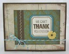 Great thank you card using S1202 Thoughtful Tidings