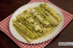 Puerros al papillote. Receta con Thermomix Recipe Collection, Veggie Recipes, Celery, Asparagus, Zucchini, Veggies, Food, Primers, Main Courses