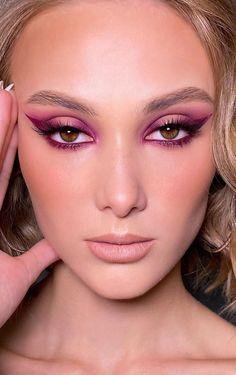 Pink Eye Makeup Looks, Bold Eye Makeup, Creative Makeup Looks, Eye Makeup Art, Glam Makeup, Makeup Cosmetics, Creative Art, Spring Makeup, Summer Eye Makeup