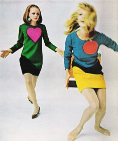 Fashion editorial for Life magazine featuring YSL's 1966 pop art collection