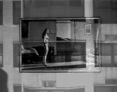Abelardo Morell Windows in Gallery with Hopper Painting,Whitney Museum Camera Obscura image gelatin silver print 2003