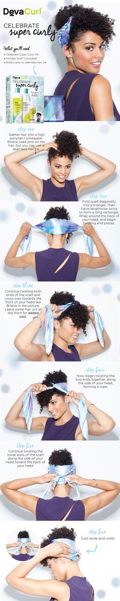 3 Scarf Styles for Curly Hair - DevaCurl Blog