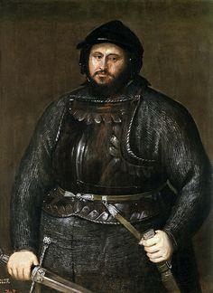 Titian (Tiziano Vecellio) (Italian, ca.1488-1576) -- Иоганн Фридрих I Саксонский, 1548, 129 см x 93 см, холст, масло