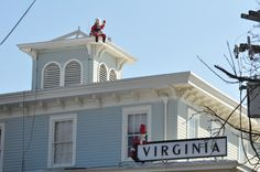 Santa on the roof at the Virginia Hotel in Cape May NJ www.capemayresort.com