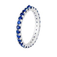 Inverted Sapphire Eternity Band. Visit Reign Sapphires to see more styles