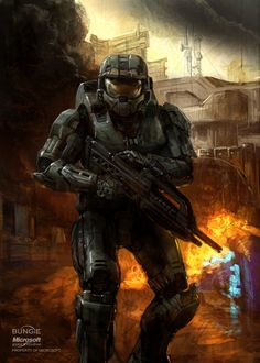 Master Chief Halo Concept Art | Isaac Hannaford: Marine concept and Master Chief promotional art