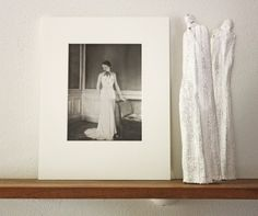 Haute Couture 1930s Henri Manuel French vintage original fashion photograph  at CrowCreekVintage