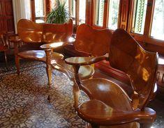 Furniture by Antoni Gaudi