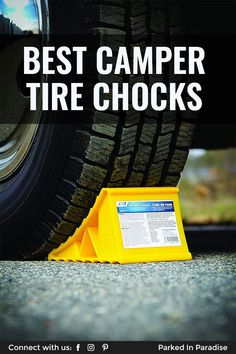 Wheel chocks are a must-have piece of gear to pack if you're going on an adventure road trip in a motorhome or travel trailer. RV tire chocks are inexpensive, easy for interior storage and last for years. Pack these in your diy camper van conversion or 5th wheel trailer before you travel to the mountains. Don't forget to add it to your camping checklist! #vanlife Small Camper Trailers, Small Campers, Cool Campers, Diy Camper, Camper Van, Rv Tires, 5th Wheel Trailers, Used Wheels, Class A Motorhomes