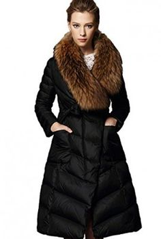 Queenshiny-long-Womens-Down-jacket-detachable-real-raccoon-fur-stand-collar-belt-oblique-zipper-fastening-0