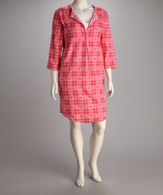 Look at this #zulilyfind! Breast is Best Pink Plaid Heart Flannel Nursing Nightgown by Breast is Best #zulilyfinds