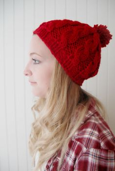 Sale // knitted cable Beret Fall Fashion Autumn by blueberryfields, $25.00