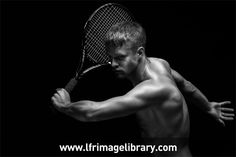 Nice image of a male tennis player from LFR Image Library.