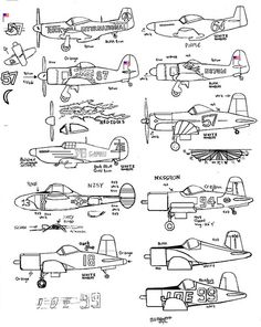 nice Cleaned and sharpened (and traced to digital...): racing plane cartoon coloring page