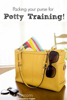 Finally outgrown the diaper bag? What to pack in your purse and car when you're in the middle of potty training!  Love these tips.