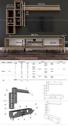 Tv Unit Interior Design, Tv Unit Furniture Design, Tv Furniture, Modern Tv Room, Modern Tv Wall Units, Tv Unit Decor, Tv Wall Decor, Tv Cabinet Design, Tv Wall Design