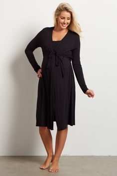 bd5c5d78274a1 A solid delivery/nursing maternity robe to make sure your visit during and  after the
