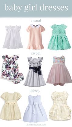 Got a wedding or party coming up where your baby girl's invited? Click for a roundup of adorable baby girl dresses your little princess can wear to any kind of occasion!